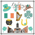 Scrapbook Customs - Travel Adventure Collection - 12 x 12 Paper - Dublin Memories Cut Out