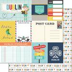 Scrapbook Customs - Travel Adventure Collection - 12 x 12 Double Sided Paper - Dublin Memories Journal