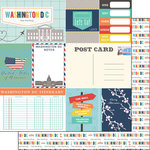 Scrapbook Customs - Travel Adventure Collection - 12 x 12 Double Sided Paper - Washington D.C. Memories Journal