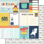 Scrapbook Customs - Travel Adventure Collection - 12 x 12 Double Sided Paper - Amsterdam Memories Journal