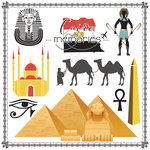 Scrapbook Customs - Travel Adventure Collection - 12 x 12 Paper - Cairo Memories Cut Out
