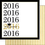 Scrapbook Customs - 12 x 12 Double Sided Paper - Capped Faux Gold 2016