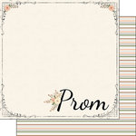 Scrapbook Customs - School Dance Collection - 12 x 12 Double Sided Paper - Perfect Prom