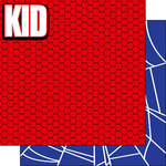 Scrapbook Customs - Inspired By Collection - 12 x 12 Double Sided Paper - Spider Superhero - Right