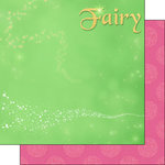 Scrapbook Customs - Inspired By Collection - 12 x 12 Double Sided Paper - Fairy - Left