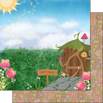 Scrapbook Customs - Inspired By Collection - 12 x 12 Double Sided Paper - Fairy - House