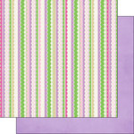 Scrapbook Customs - Inspired By Collection - 12 x 12 Double Sided Paper - Fairy - Stripes