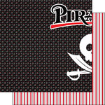 Scrapbook Customs - Inspired By Collection - 12 x 12 Double Sided Paper - Pirates - Left