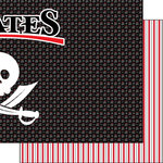 Scrapbook Customs - Inspired By Collection - 12 x 12 Double Sided Paper - Pirates - Right