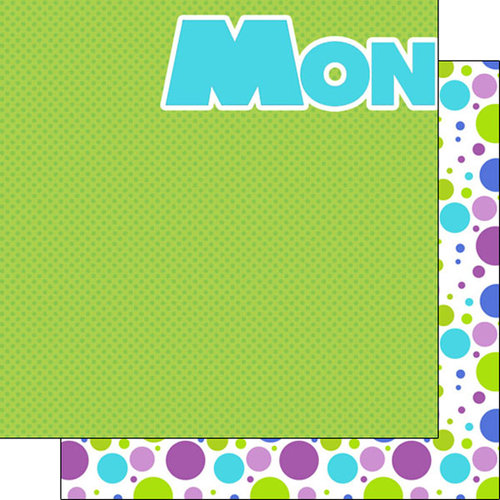 Scrapbook Customs - Inspired By Collection - 12 x 12 Double Sided Paper - Monster - Left