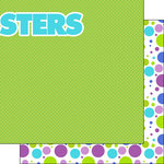 Scrapbook Customs - Inspired By Collection - 12 x 12 Double Sided Paper - Monster - Right