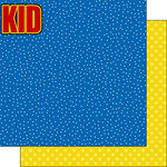 Scrapbook Customs - Inspired By Collection - 12 x 12 Double Sided Paper - Super Kid - Right