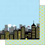 Scrapbook Customs - Inspired By Collection - 12 x 12 Double Sided Paper - Super Kid - City