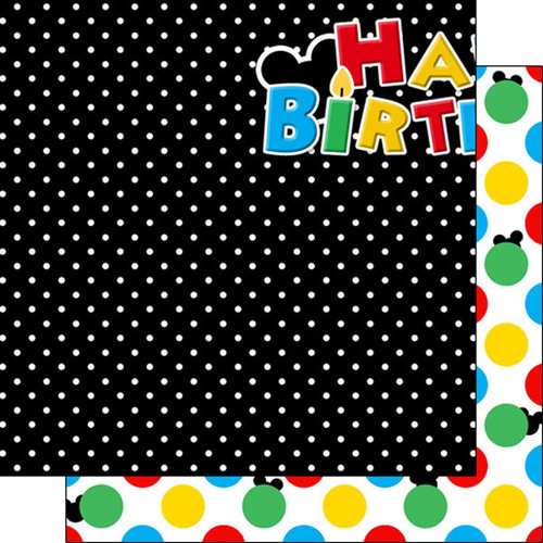 Scrapbook Customs - Inspired By Collection - 12 x 12 Double Sided Paper - Magical Birthday - Left