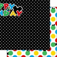 Scrapbook Customs - Inspired By Collection - 12 x 12 Double Sided Paper - Magical Birthday - Right