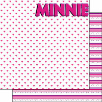 Scrapbook Customs - Inspired By Collection - 12 x 12 Double Sided Paper - Magical Mouse Girl - Left