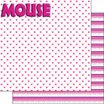 Scrapbook Customs - Inspired By Collection - 12 x 12 Double Sided Paper - Magical Mouse Girl - Right