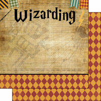 Scrapbook Customs - Wizarding World Collection - 12 x 12 Double Sided Paper - Left