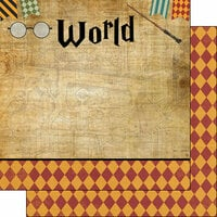 Scrapbook Customs - Wizarding World Collection - 12 x 12 Double Sided Paper - Right