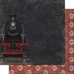 Scrapbook Customs - Wizarding World Collection - 12 x 12 Double Sided Paper - Train