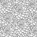 Scrapbook Customs - Adult Coloring Page - 12 x 12 Paper - Dahlia
