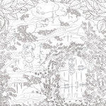 Scrapbook Customs - Adult Coloring Page - 12 x 12 Paper - Secret Door