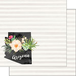 Scrapbook Customs - 12 x 12 Double Sided Paper - Arizona Watercolor