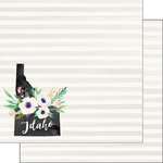 Scrapbook Customs - 12 x 12 Double Sided Paper - Idaho Watercolor