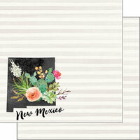 Scrapbook Customs - 12 x 12 Double Sided Paper - New Mexico Watercolor