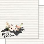 Scrapbook Customs - 12 x 12 Double Sided Paper - North Carolina Watercolor