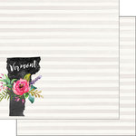 Scrapbook Customs - 12 x 12 Double Sided Paper - Vermont Watercolor
