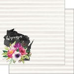 Scrapbook Customs - 12 x 12 Double Sided Paper - Wisconsin Watercolor