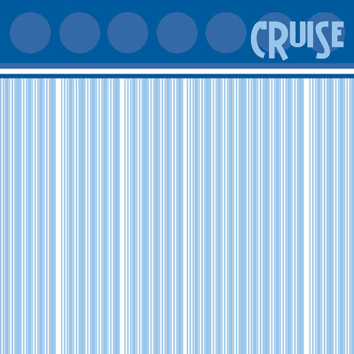 Scrapbook Customs - Cruise Collection - 12 x 12 Paper - Portholes
