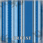 Scrapbook Customs - Cruise Collection - 12 x 12 Paper - Polka Dot Stripes