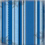 Scrapbook Customs - Cruise Collection - 12 x 12 Paper - Polka Dot Stripes Companion