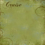 Scrapbook Customs - Cruise Collection - 12 x 12 Paper - Fern
