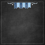 Scrapbook Customs - Cruise Collection - 12 x 12 Paper - Grid
