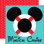 Scrapbook Customs - Cruise Collection - 12 x 12 Double Sided Paper - Magical Life Preserver