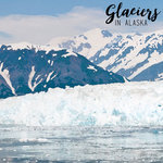 Scrapbook Customs - 12 x 12 Paper - Alaska Glacier - Left Watercolor