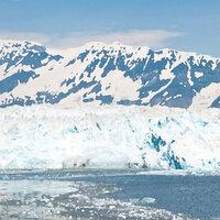 Scrapbook Customs - 12 x 12 Paper - Alaska Glacier - Right Watercolor