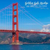Scrapbook Customs - 12 x 12 Paper - Golden Gate Bridge - Left Watercolor