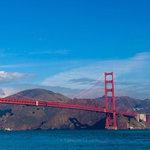 Scrapbook Customs - 12 x 12 Paper - Golden Gate Bridge - Right Watercolor