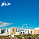 Scrapbook Customs - 12 x 12 Paper - Las Vegas Strip - Right Watercolor