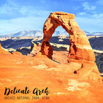 Scrapbook Customs - 12 x 12 Paper - Delicate Arch Watercolor