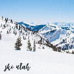 Scrapbook Customs - 12 x 12 Paper - Ski Utah - Left Watercolor