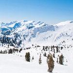 Scrapbook Customs - 12 x 12 Paper - Ski Utah - Right Watercolor