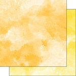 Scrapbook Customs - 12 x 12 Double Sided Paper - Golden Yellow and Yellow Watercolor