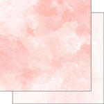 Scrapbook Customs - 12 x 12 Double Sided Paper - Light Peach and Peach Watercolor