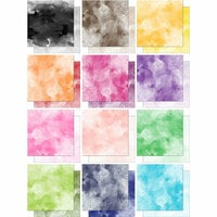Scrapbook Customs - 12 x 12 Double Sided Paper - Watercolor - Pack