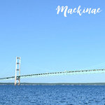 Scrapbook Customs - 12 x 12 Paper - Mackinac Island Bridge - Left Watercolor
